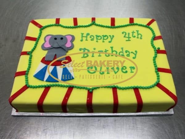 Birthday Cake - Circus