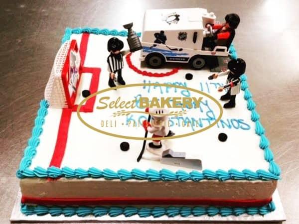 Birthday Cake - Hockey