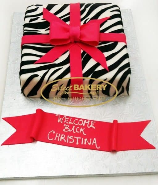 Birthday Cake - Zebra