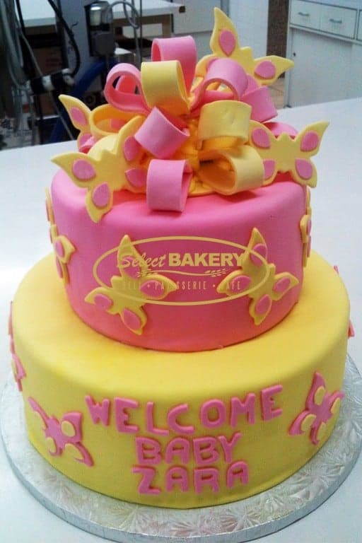 Birthday Cake - Butterfly & Ribbon