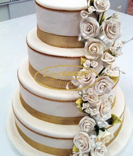 Wedding Cake Gold- Select Bakery