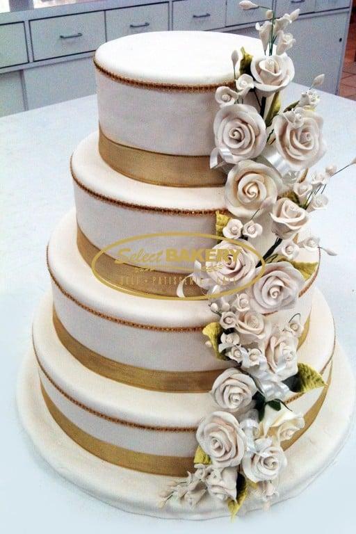 Wedding Cake Gold- Select Bakery