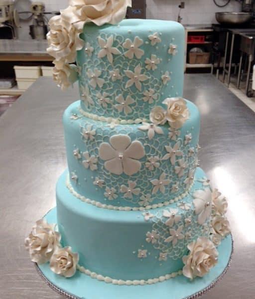 Wedding Cake Turquoise - Select Bakery