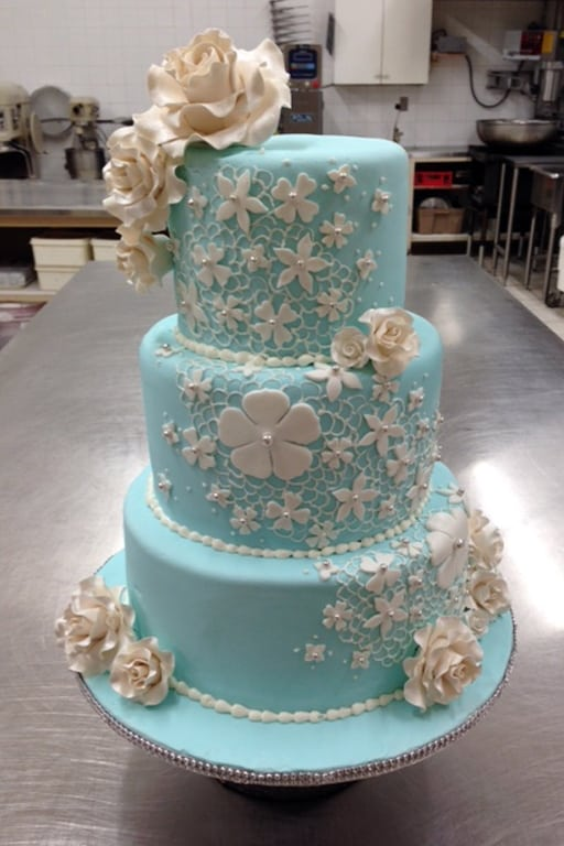 Wedding Cake Turquoise - Select Bakery