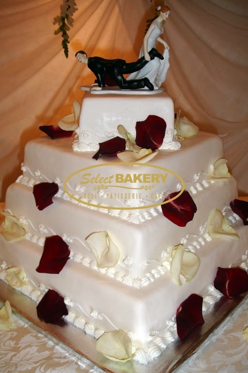 Wedding Cake Square Petals - Select Bakery