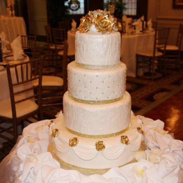 Wedding Cake - Gold Rose