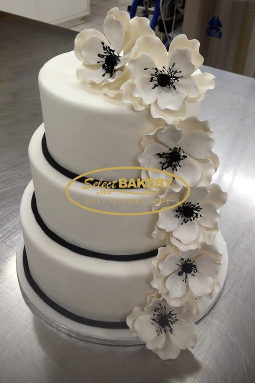 Wedding Cake - White Flower