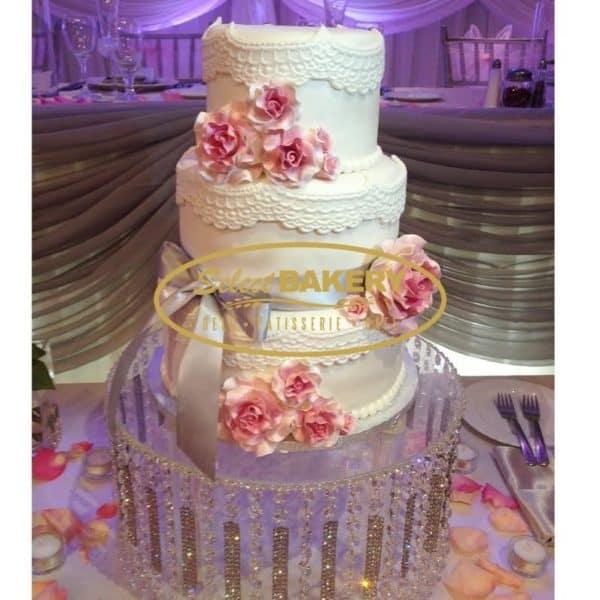 Wedding Cake - White Laces