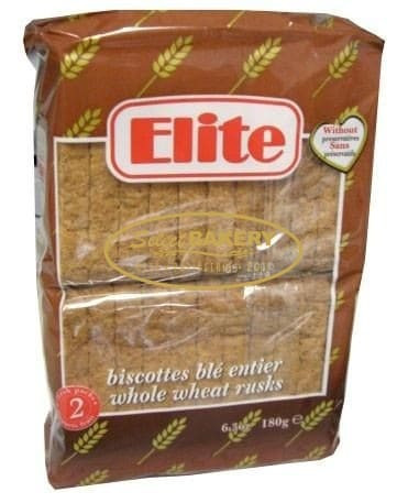 ELITE WHOLE WHEAT RUSKS - 180g