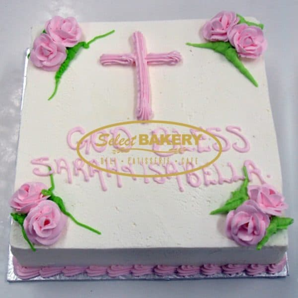 Baptism Cake- For Girls