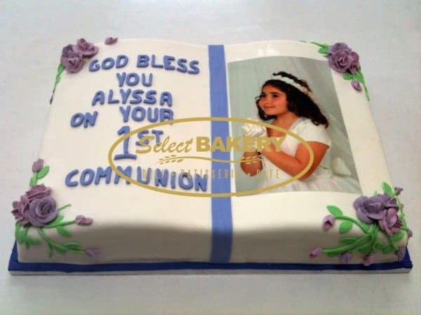Baptism Cake- Custom-Made Rectangular