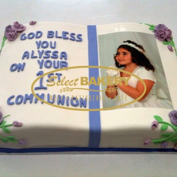 Baptism Cake- Custom-Made Rectangular
