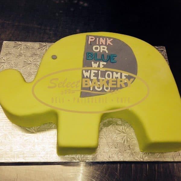 Baptism Cake - Elephant