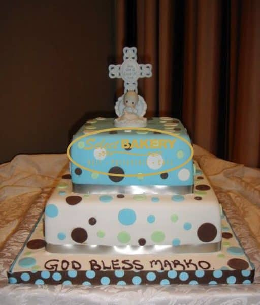 Baptism Cake - 2 Tiered Cross
