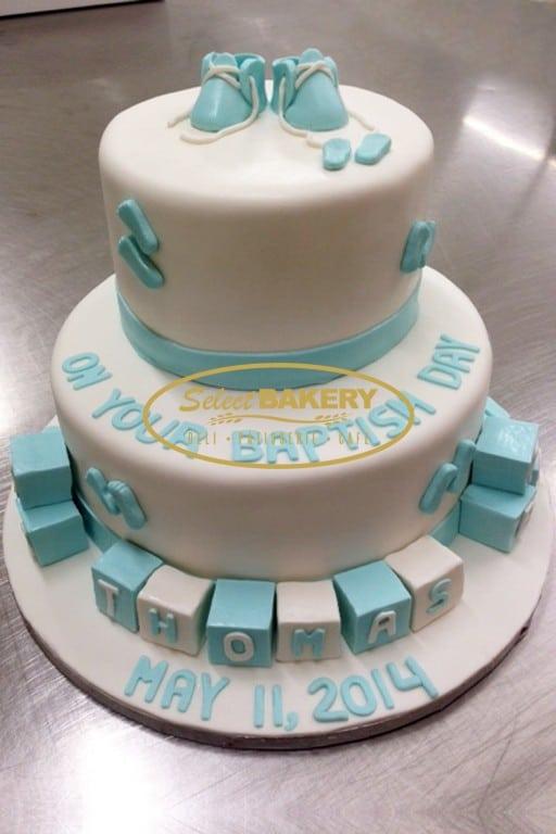 Baptism Cake - Baby Shoe - Boys 449