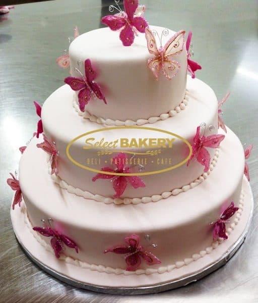Baptism Cake - Butterfly