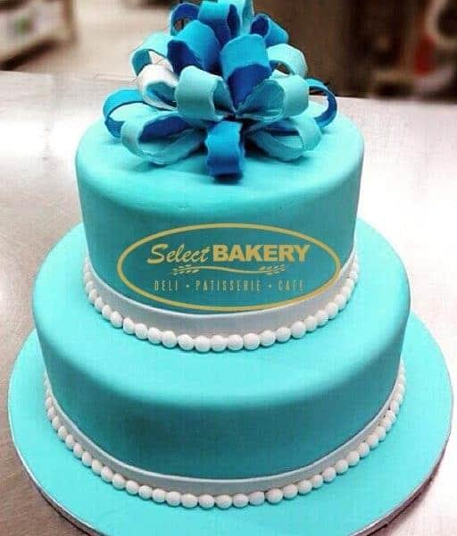 Baptism Cake - Ribbon Topping
