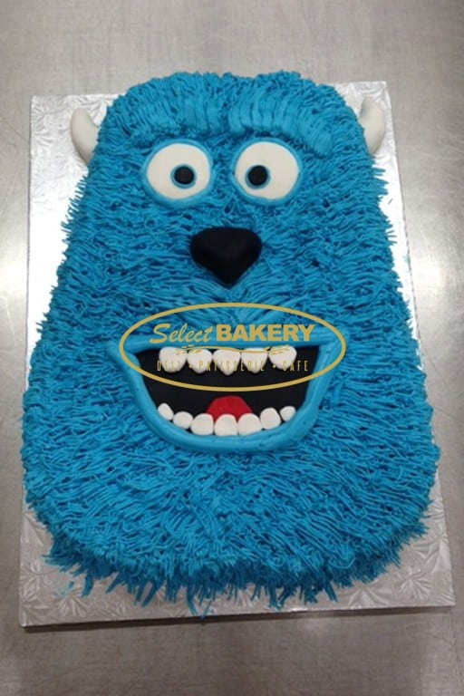 Pleasing Birthday Cake Monster Inc 444 Select Bakery Personalised Birthday Cards Veneteletsinfo
