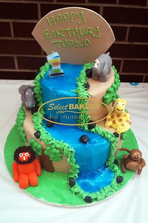 Birthday Cake - Jungle