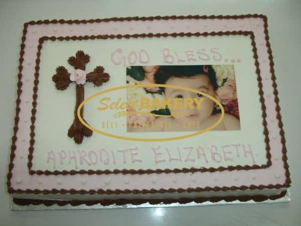 Baptism Cake Personalized Cubes- 327