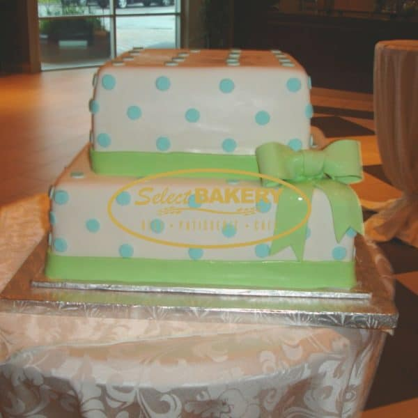 Baptism Cake with Flower Decor 336