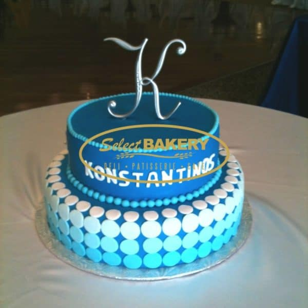 Baptism Cake with Baby Name 392