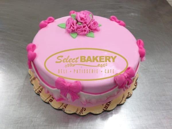 Birthday Cake - Pink Roses 452