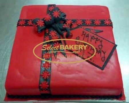 Birthday Cake Red Ribbon