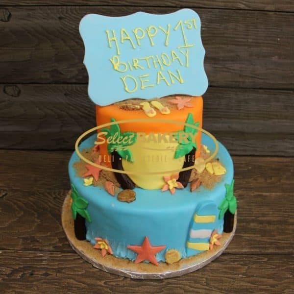 Birthday Cake - Caribbean Island 545