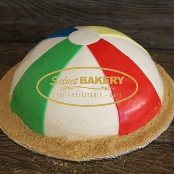 Birthday Cake- Beach Ball Sand 558