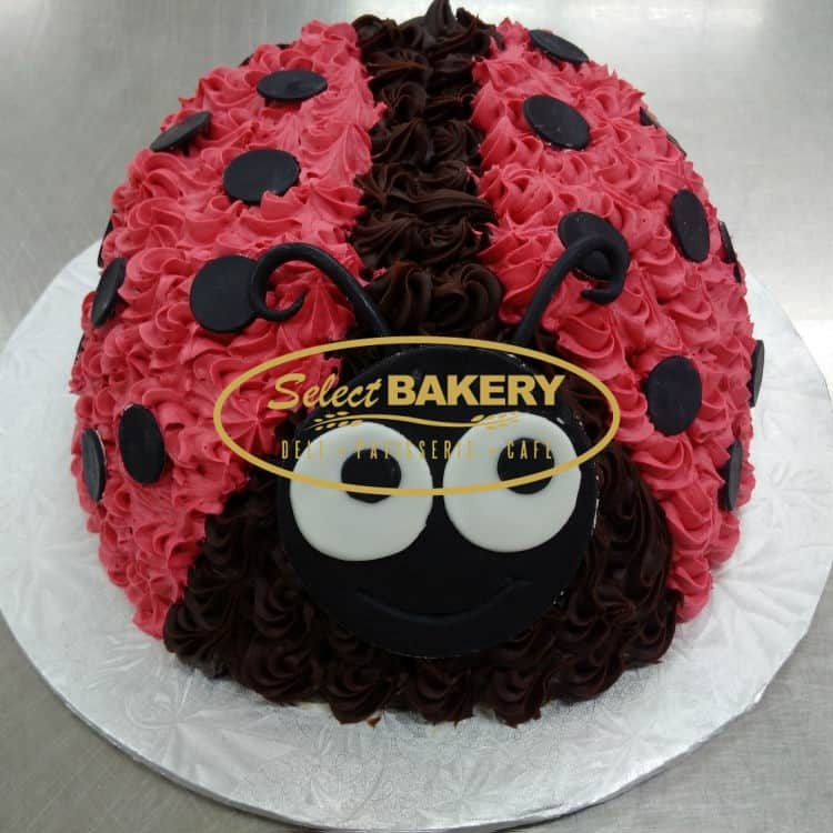 Enjoyable Birthday Cake Ladybug Select 553 Select Bakery Funny Birthday Cards Online Elaedamsfinfo