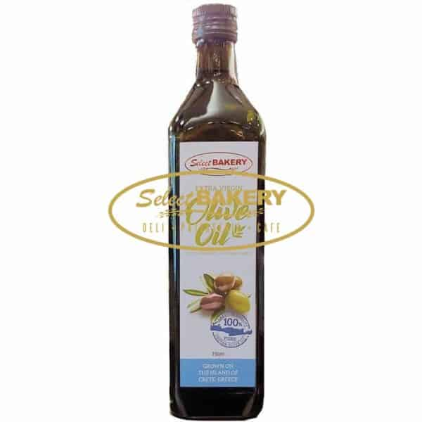 Select Bakery Extra Virgin Olive Oil 750 ml From Select Bakery family to yours: Extra Virgin Olive Oil from Crete, Greece. Choose the best quality and enjoy the Taste of Greece at your doorstep