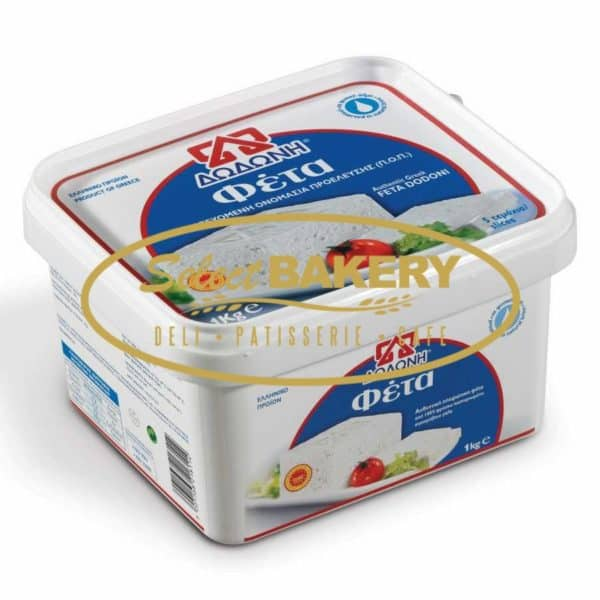 Dodoni Feta 1 kg  Select Bakery - Toronto, ON - 405 Donlands Ave M4J 3S2 Tasty, nutritious, nourishing with its white color Feta DODONI is renowned for its high and consistent quality that has conquered Greek and foreign consumers and has received many awards from national and international bodies.