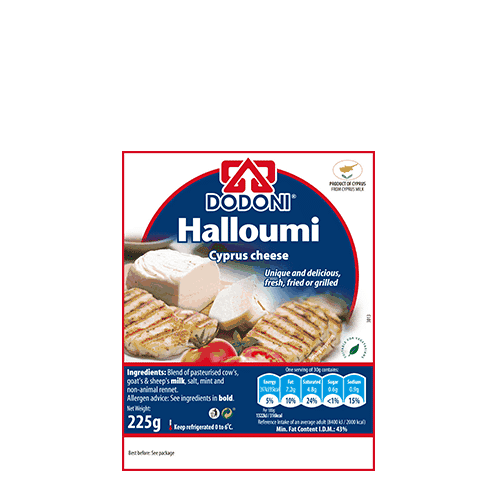Dodoni Halloumi is made in Cypress, the homeland of Halloumi.