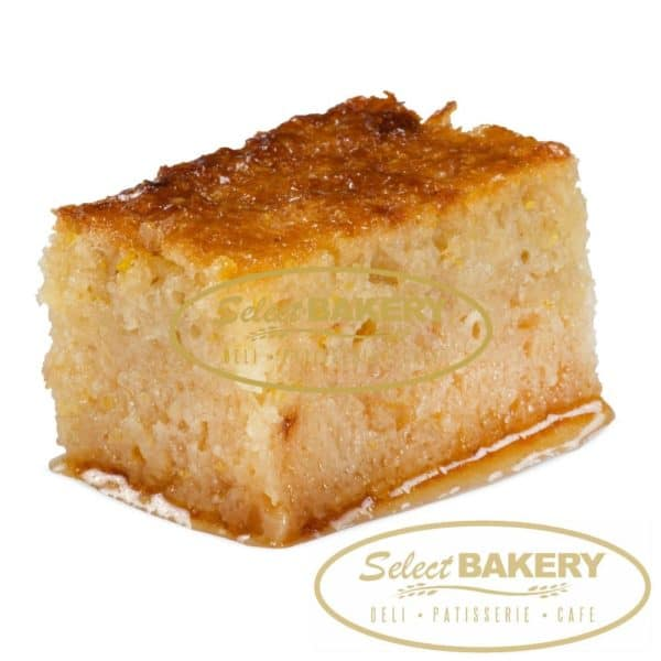 Portokalopita An orange cake made from phyllo pastry and oranges covered in a light syrup Fresh and Authentic Greek Pastries by Select Bakery - 405 Donlands Ave Toronto, ON