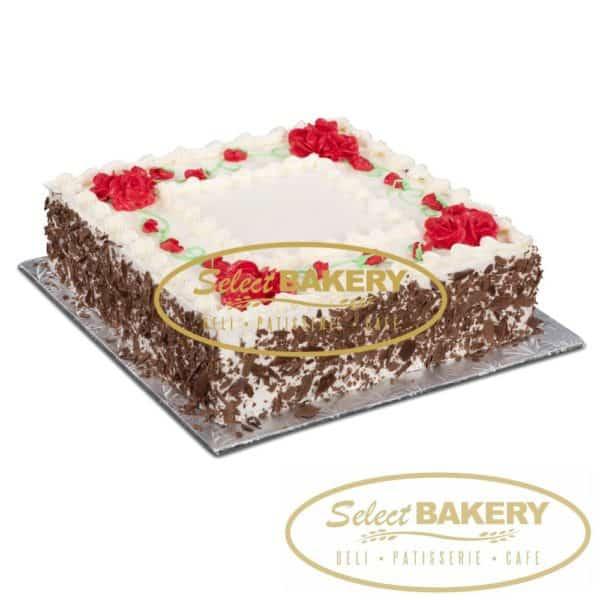 Medium Square Vanilla Cake - 20-25 slices