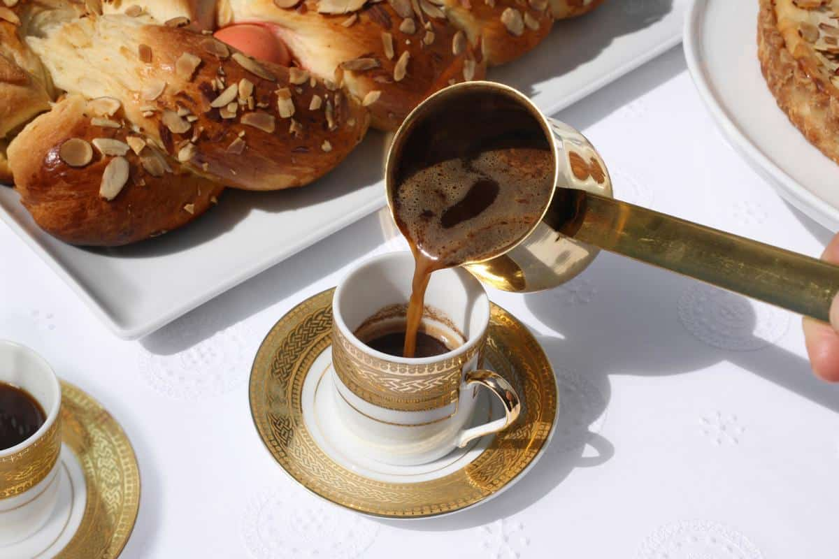 Select Bakery Greek Coffee with Briki and Tsoureki