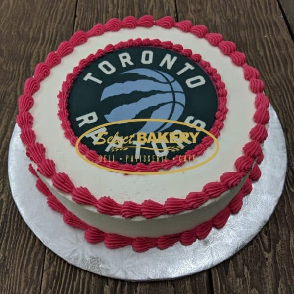 Toronto Raptors Cake by Select Bakery