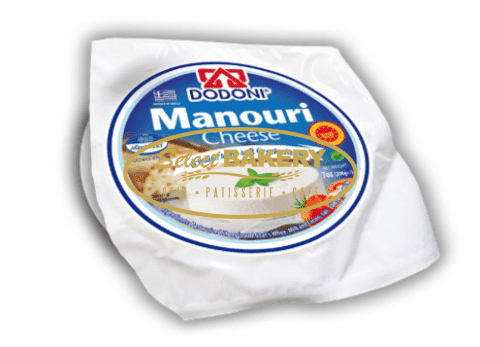 DODONI MANOURI 200g $8 Manouri cheese is a traditional, soft, whey cheese made from 100% Greek sheep and goat milk. With Protected Designation of Origin, this popular cheese is widely used in pastries or drizzled with honey. Its creamy texture and mild taste ideally accompany red wine. The exceptional and delicious DODONI Manouri is available in vacuum packs of 200g.