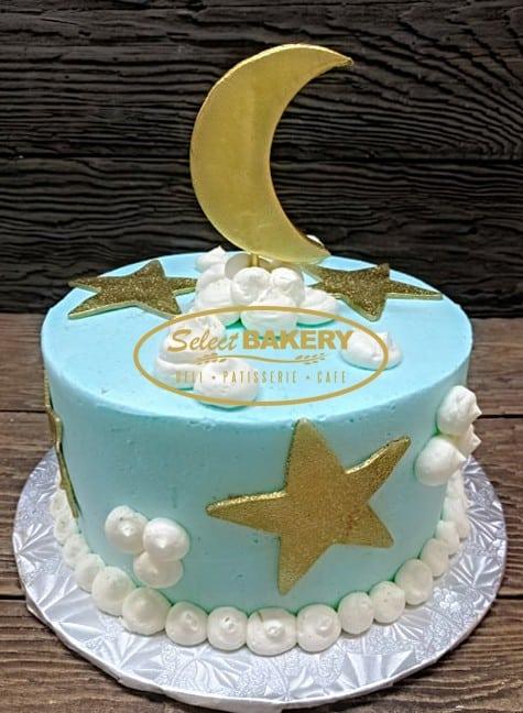 Moon and Stars Cake Baby Birthday