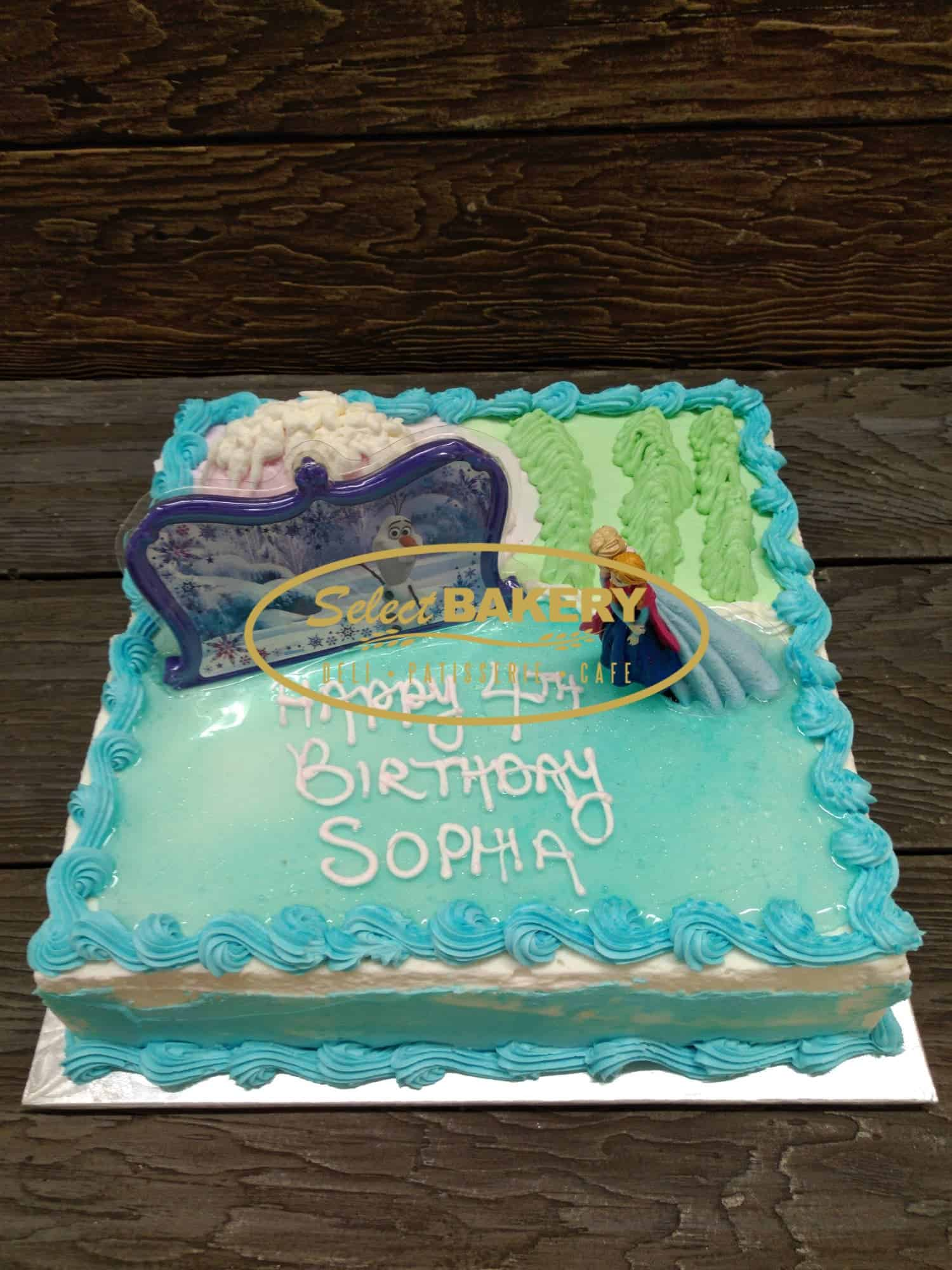 Wondrous Frozen Birthday Cake For 20 25 People Select Bakery Birthday Cards Printable Opercafe Filternl
