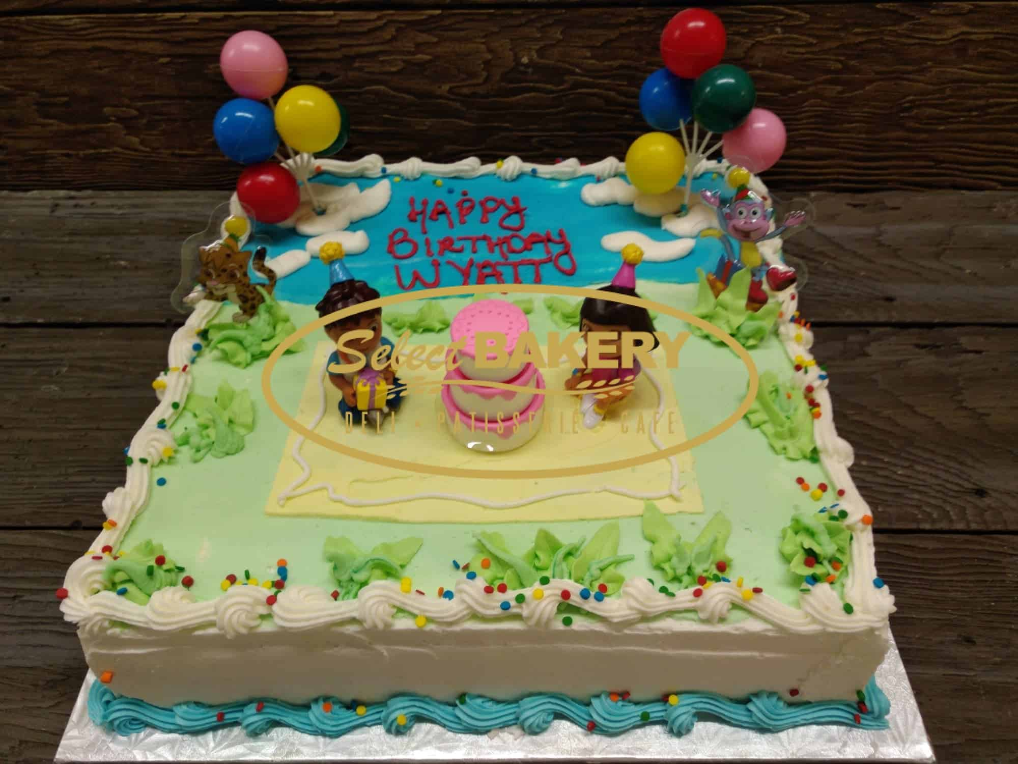 Superb Dora The Explore Birthday Cake For 35 40 Select Bakery Funny Birthday Cards Online Alyptdamsfinfo