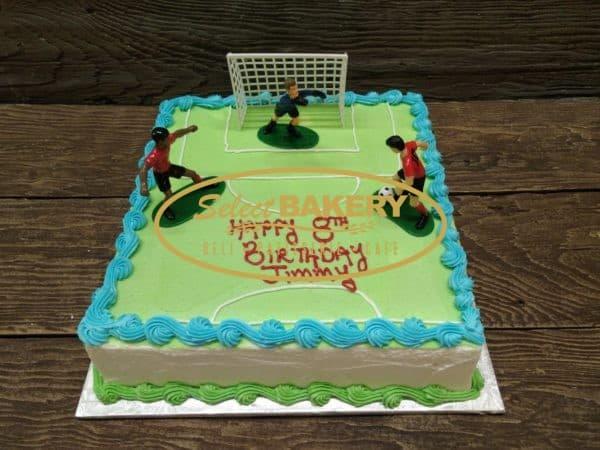 soccer ball game birthday cake