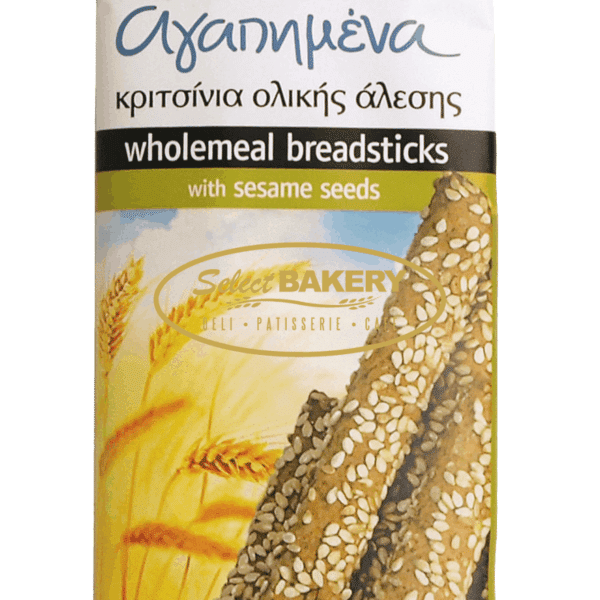 LOVELY BREADSTICKS WHOLEMEAL WITH SESAME SEEDS 125 gr