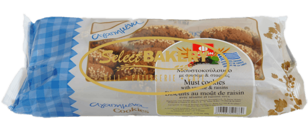 MOUSTOKOULOURA SOFT SESAME RAISIN 400 gr
