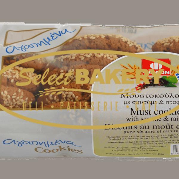 MOUSTOKOULOURA SOFT SESAME RAISIN 400 gr