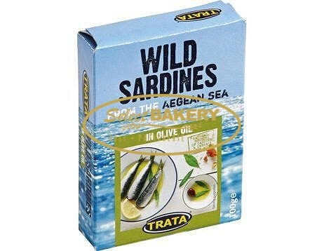 Wild Sardines in Olive Oil from Aegean Sea by Trata 100 g
