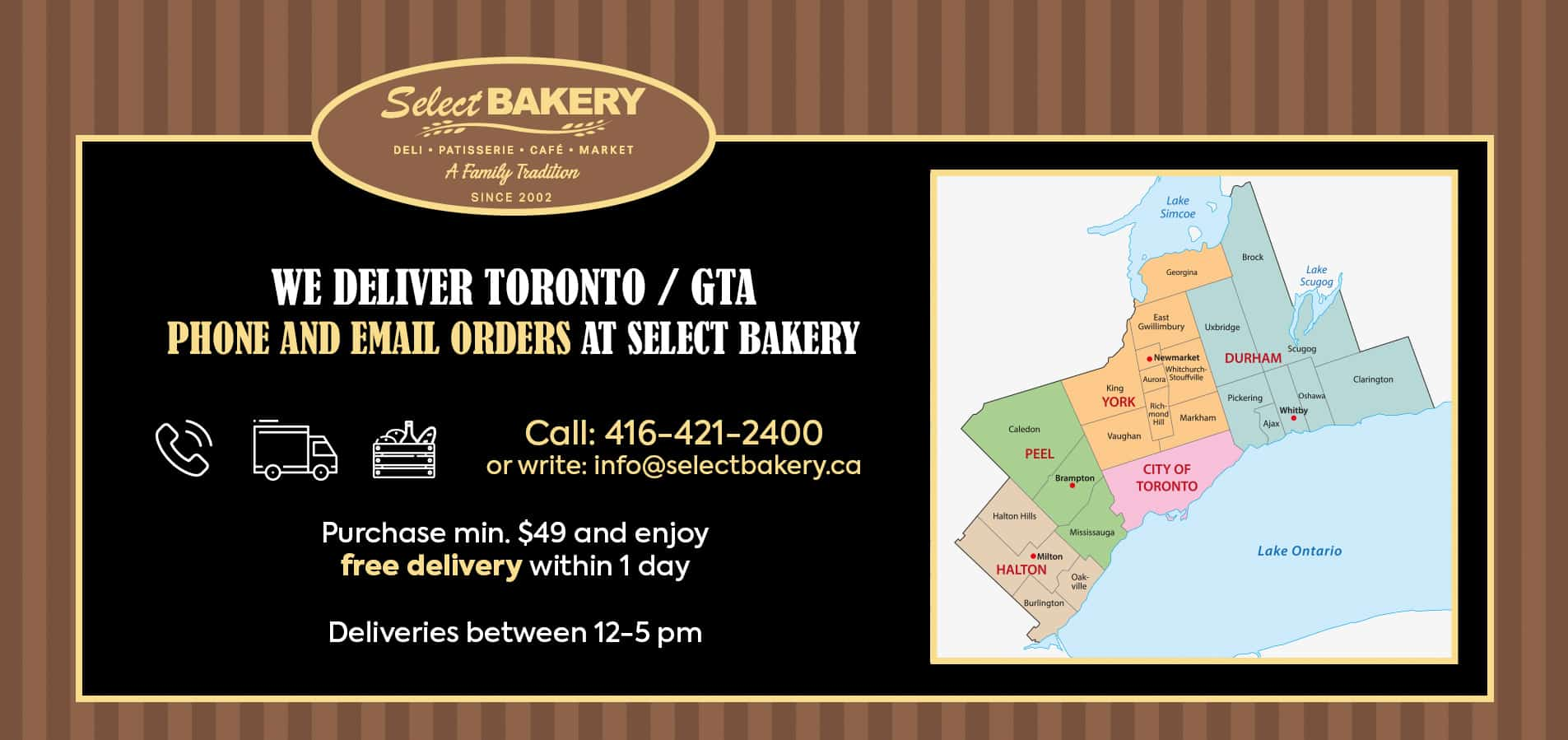 Select Bakery Home Delivery program