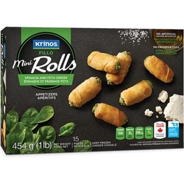 Krinos Mini Rolls - Spinach - Feta