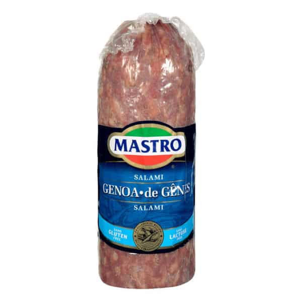 Mastro®Mild Genoa Salami 200g You favourite cold cuts are now available sliced for online order - Local Delivery only Toronto / Scarborough / Etobicoke / North York
